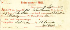 Way bill from Canal House (c) N & J Lonie
